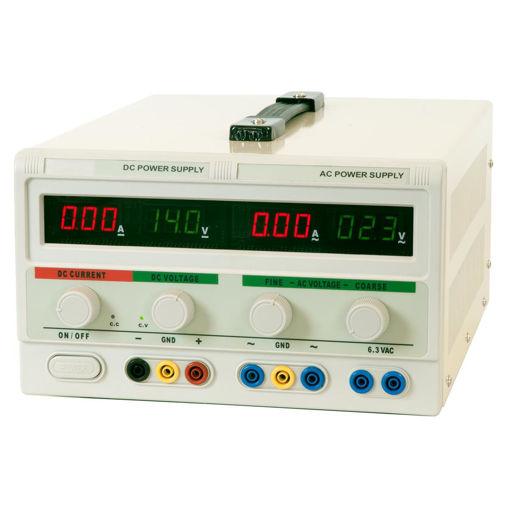 Bild på Nätaggregat 0-30VDC, 5A/0-30VAC, 2A