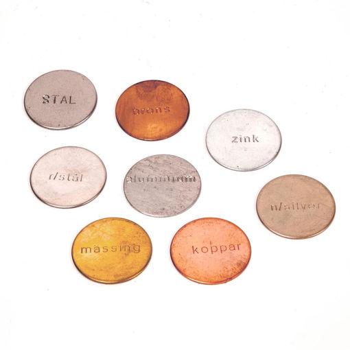 Bild på Metallplattor för magnetism /8st