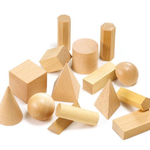 Bild på Geometriska modeller, trä