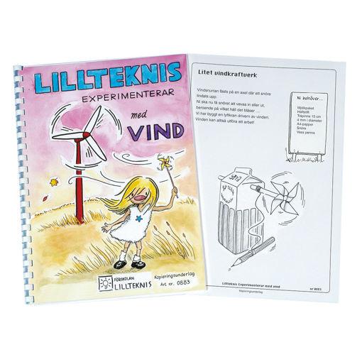 Bild på Lillteknis experimenterar med vind