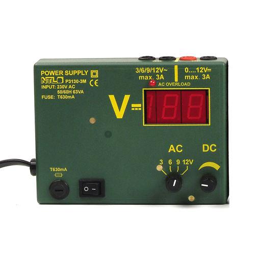 Bild på Nätaggregat NTL 0-12V 3A AC/DC, magnetisk