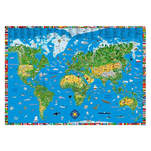 Bild på Världskarta för upptäcksresande