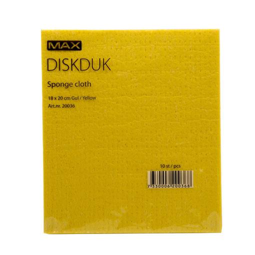 Bild på Diskduk gul /10st