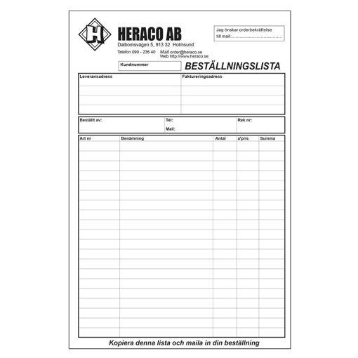 Bild på Beställningsformulär