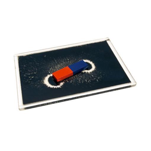 Bild på Magnetfältsplatta m järnfilspån